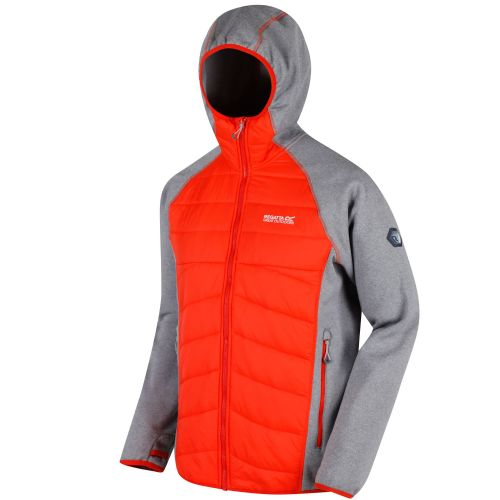 Regatta ANDRESON III HYBRID STRETCH LIGHTWEIGHT INSULATED JACKET - Rock Grey Marl / Amber Glow